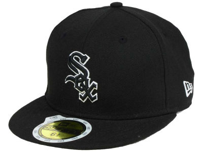 Chicago White Sox MLB Black and White Fashion 59FIFTY Hats