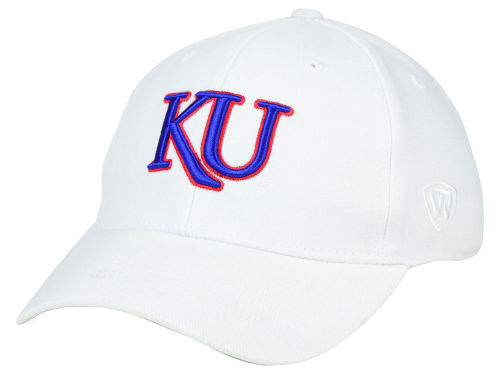 Kansas Jayhawks Top of the World NCAA White PC Cap Hats