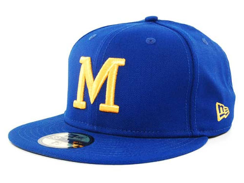 Milwaukee Brewers New Era MLB Cooperstown 59FIFTY Hats