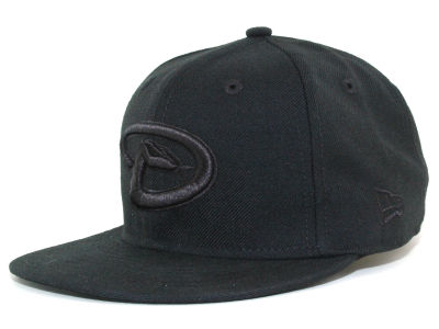 Arizona Diamondbacks MLB Black on Black Fashion 59FIFTY Hats