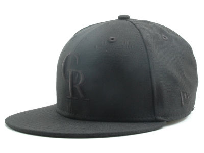 Colorado Rockies MLB Black on Black Fashion 59FIFTY Hats