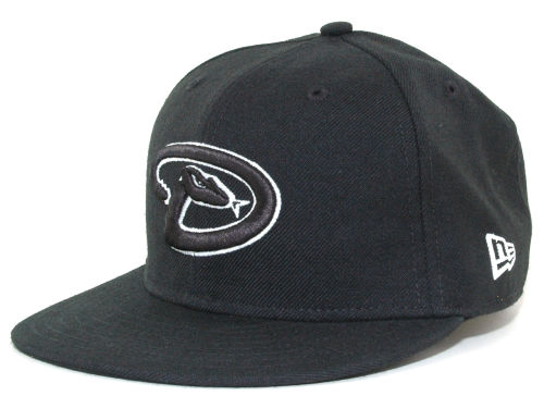 Arizona Diamondbacks New Era MLB Black and White Fashion 59FIFTY Hats