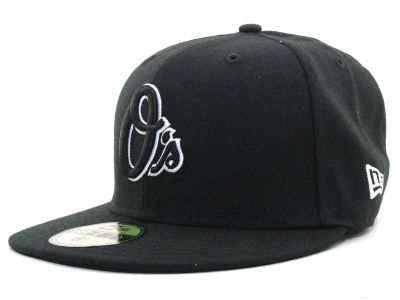 Baltimore Orioles MLB Black and White Fashion 59FIFTY Hats