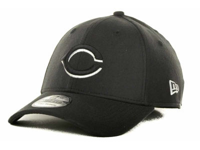 Cincinnati Reds MLB Black and White Ace 39THIRTY Hats