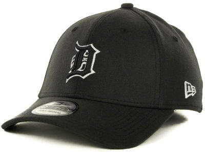 Detroit Tigers MLB Black and White Ace 39THIRTY Hats