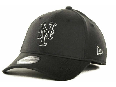 New York Mets MLB Black and White Ace 39THIRTY Hats