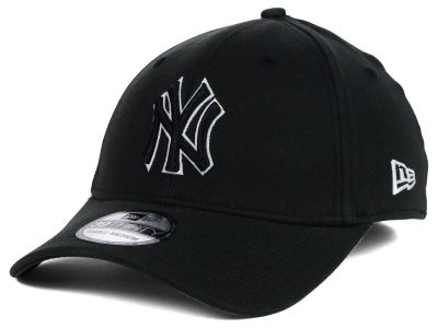 New York Yankees MLB Black and White Ace 39THIRTY Hats