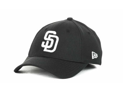 San Diego Padres MLB Black and White Ace 39THIRTY Hats