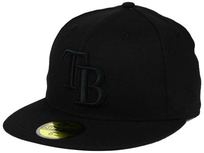 Tampa Bay Rays MLB Black on Black Fashion 59FIFTY Cap Hats