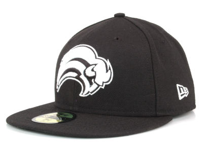 Buffalo Sabres NHL Black and White 59FIFTY Hats