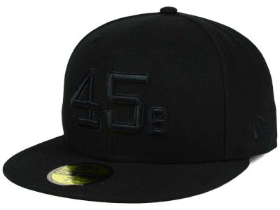 Houston Colt 45s MLB Black on Black Fashion 59FIFTY Cap Hats