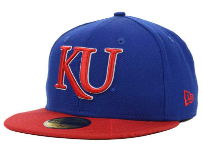 Kansas Jayhawks NCAA 2 Tone 59FIFTY Hats