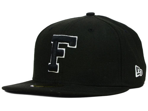 Florida Gators New Era NCAA Black on Black with White 59FIFTY Hats