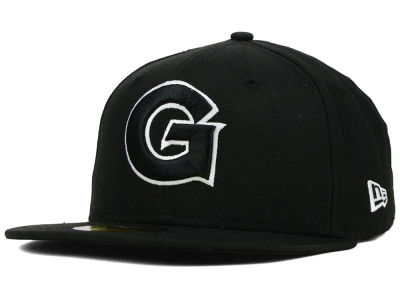 Georgetown Hoyas NCAA Black on Black with White 59FIFTY Cap Hats