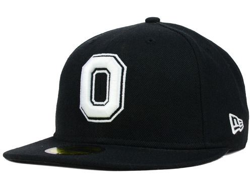 Ohio State Buckeyes New Era NCAA Black on Black with White 59FIFTY Cap Hats