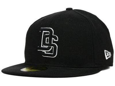 Delaware State Hornets NCAA Black on Black with White 59FIFTY Cap Hats