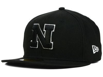 Nebraska Cornhuskers NCAA Black on Black with White 59FIFTY Hats