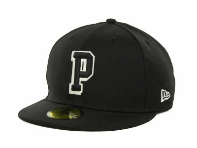 Pittsburgh Panthers NCAA Black on Black with White 59FIFTY Cap Hats