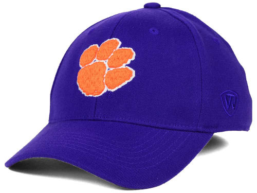 Clemson Tigers Top of the World NCAA Team Color PC Cap Hats