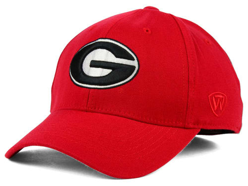 Georgia Bulldogs Top of the World NCAA Team Color PC Cap Hats
