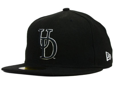 Delaware Blue Hens NCAA Black on Black with White 59FIFTY Cap Hats