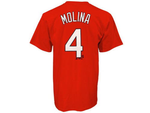 St. Louis Cardinals Yadier Molina Majestic MLB Youth Player T-Shirt