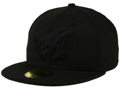 Los Angeles Angels of Anaheim MLB Black on Black Fashion 59FIFTY Cap Hats