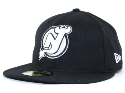 New Jersey Devils NHL Black and White 59FIFTY Hats