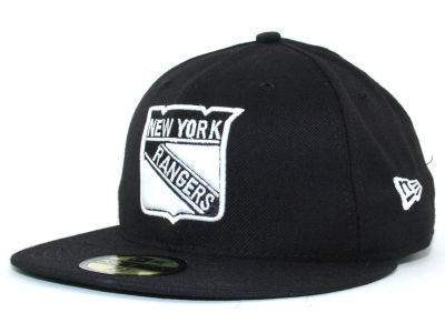 New York Rangers NHL Black and White 59FIFTY Hats