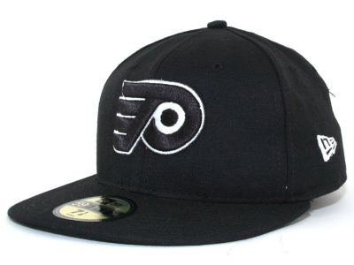Philadelphia Flyers NHL Black and White 59FIFTY Hats