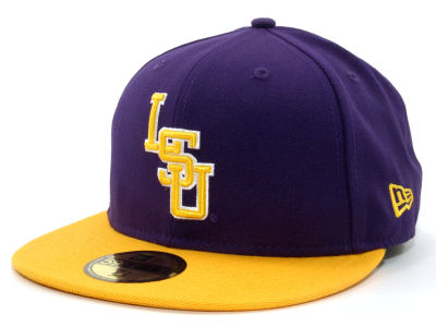 LSU Tigers NCAA 2 Tone 59FIFTY Hats