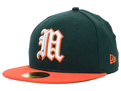 Miami Hurricanes NCAA 2 Tone 59FIFTY Hats