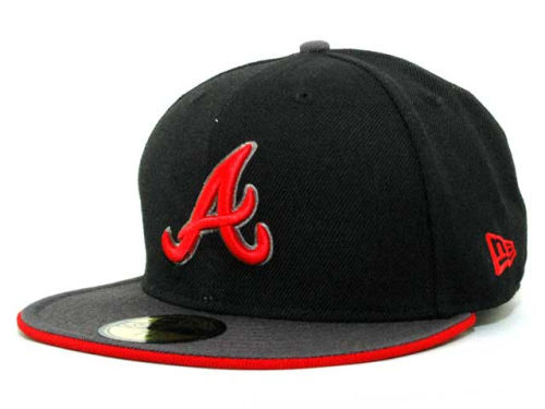 Atlanta Braves New Era MLB Graphite 59FIFTY Hats