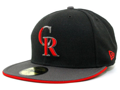 Colorado Rockies MLB Graphite 59FIFTY Hats