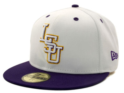 LSU Tigers NCAA White 2 Tone 59FIFTY Hats