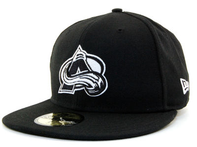 Colorado Avalanche NHL Black and White 59FIFTY Hats