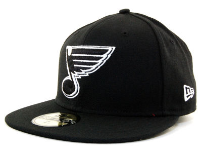 St. Louis Blues NHL Black and White 59FIFTY Hats