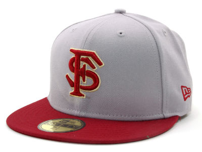 Florida State Seminoles NCAA 2 Tone Light Gray/Team Color 59FIFTY Hats