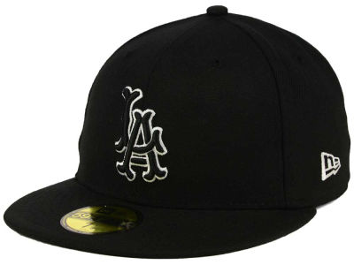 Los Angeles Angels of Anaheim MLB Black and White Fashion 59FIFTY Cap Hats