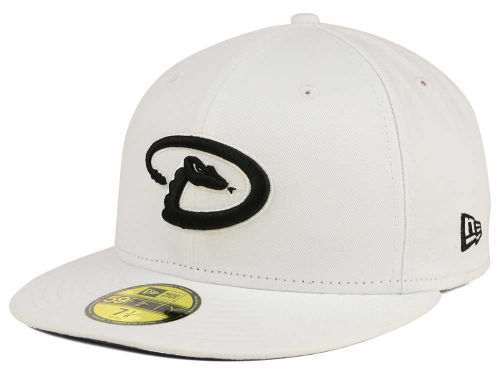 Arizona Diamondbacks New Era MLB White And Black 59FIFTY Cap Hats