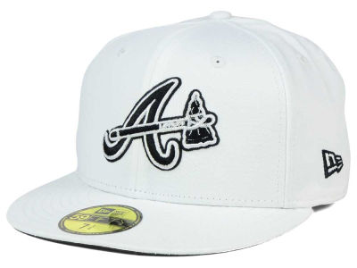 Atlanta Braves MLB White And Black 59FIFTY Hats