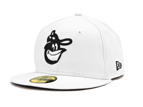 Baltimore Orioles New Era MLB White And Black 59FIFTY Cap Hats