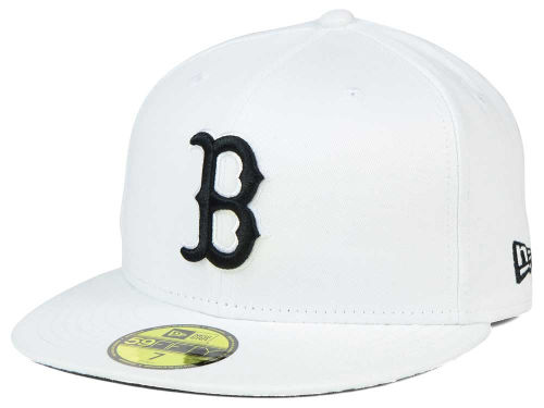 Boston Red Sox New Era MLB White And Black 59FIFTY Cap Hats