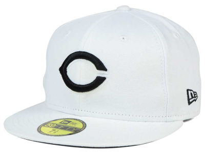 Cincinnati Reds MLB White And Black 59FIFTY Cap Hats