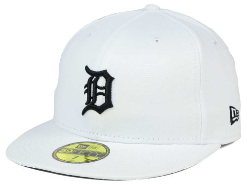 Detroit Tigers New Era MLB White And Black 59FIFTY Cap Hats
