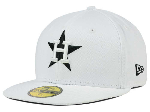 Houston Astros New Era MLB White And Black 59FIFTY Hats