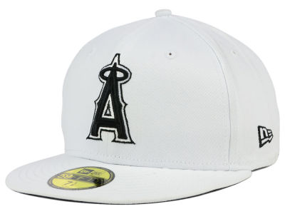 Los Angeles Angels of Anaheim MLB White And Black 59FIFTY Cap Hats