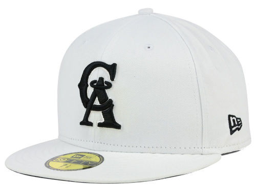 Los Angeles Angels of Anaheim New Era MLB White And Black 59FIFTY Cap Hats