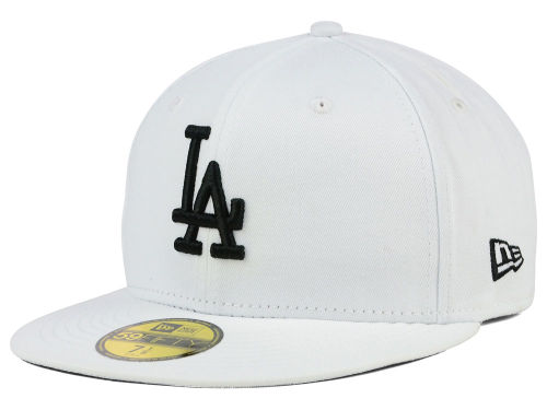 Los Angeles Dodgers New Era MLB White And Black 59FIFTY Cap Hats