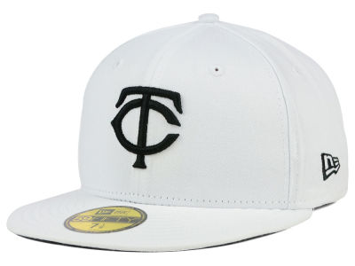Minnesota Twins MLB White And Black 59FIFTY Cap Hats